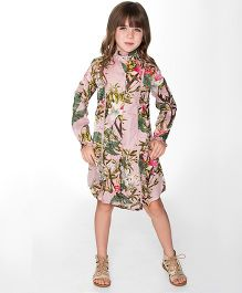 Yo Baby Jungle Shirt Dress - Pink