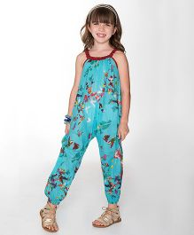 Yo Baby Floral Jumpsuit - Turquoise