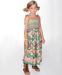 Yo Baby Floral Maxi Dress - Green & Pink
