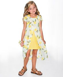Yo Baby Lemon Layered Dress - Yellow & Light Green