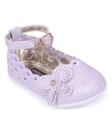 Cute Walk by Babyhug Bellies With Floral Applique - Purple