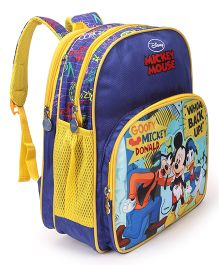 Disney Mickey Mouse & Friends School Bag Royal Blue - Height 14 inch