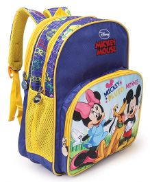 Disney Mickey Mouse School Bag Royal Blue - Height 14 inch