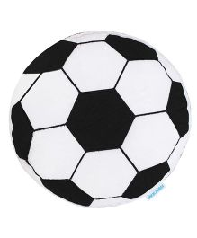 Abracadabra Football Shape Cushion - Black & White