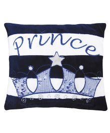 Abracadabra Cushion Prince Embroidery - Navy Blue