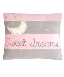 Abracadabra Cushion Sweet Dreams Embroidery - Pink & Grey
