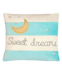 Abracadabra Cushion Sweet Dreams Embroidery - Aqua & White