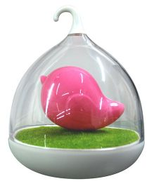 Abracadabra LED Bird Cage Night Lamp - Pink