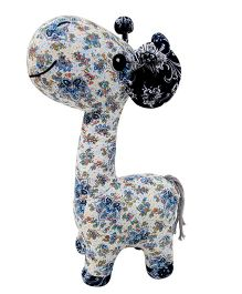 Abracadabra Giraffe Soft Toy White Blue - Height 38 cm