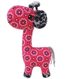 Abracadabra Giraffe Soft Toy Pink - Height 38 cm
