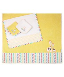 Abracadabra Bath Towel Set Giraffe Design - Yellow