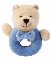 Abracadabra Bear Ring Rattle - Blue