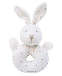 Abracadabra Ring Rattle Bunny Shape - White