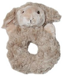 Abracadabra Plush Ring Rattle Sheep - Brown