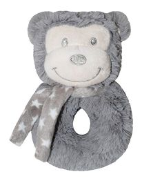Abracadabra Ring Rattle Monkey Shaped - Grey