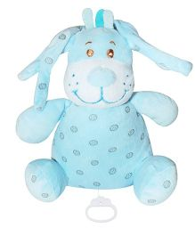 Abracadabra Musical Pull Soft Toy Blue - Height 19 cm