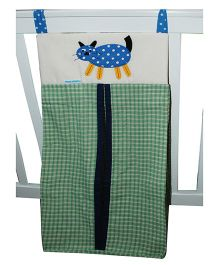 Abracadabra Diaper Stacker Cat Patch - Green
