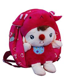 Abracadabra Soft Toy Bag With 3D Pop-up Pink - Height 10.2 inch