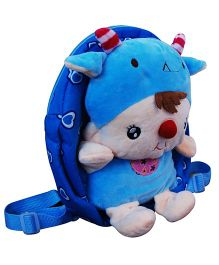 Abracadabra Soft Toy Bag With 3D Pop-up Blue - Height 10.2 inch