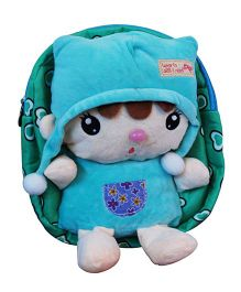 Abracadabra Soft Toy Bag With 3D Pop-up Blue Green - Height 10.2 inch