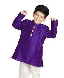 Little Pockets Store Kurta With Pompom - Blue