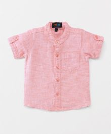 Robo Fry Half Sleeves Solid Shirt - Pink
