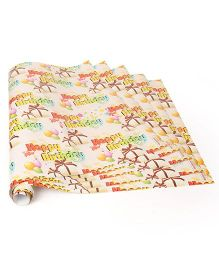 Disney Gift Wrapper Happy Birthday Print Pack Of 5 - Peach