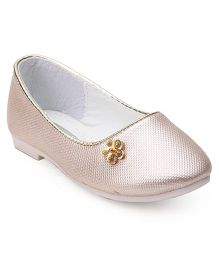 Cute Walk by Babyhug Ballerinas Diamond In Flower Motif - Cream