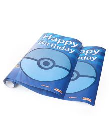 Pokemon Birthday Posters Pack of 2 - Blue
