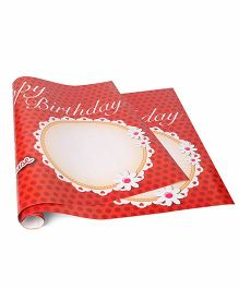 Disney Minnie Mouse Birthday Poster - Red