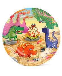 Disney Paper Plates Dinosaurs Print Pack Of 10 - Multi Color