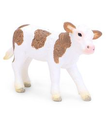 Schleich Simmental Calf Figurine Brown White - 7 cm