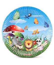 Disney Paper Plates Animals Print Pack Of 10 - Multi Color