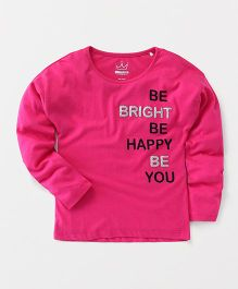 Vitamins Full Sleeves Top Be Bright Print - Pink