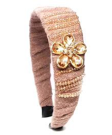 Reyas Accessories Crystal Applique Sequenced Hairband - Pink