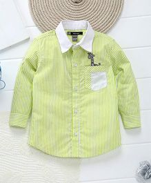 Kidology Giraffe Patch Shirt - Light Yellow