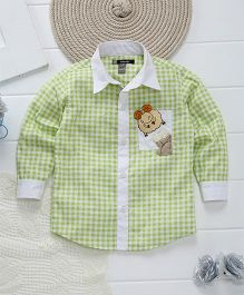 Kidology Sheep Patch Work Checkered Shirt - Light Yellow