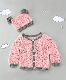 The Original Knit Sweater Set With Cap - Off White