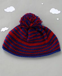 The Original Knit Striped Cap - Red & Blue