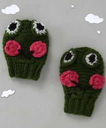 The Original Knit Cute Mittens - Green