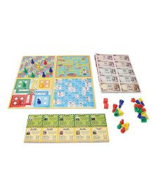 Ratnas Business 4 In 1 Board Game - Multi Color