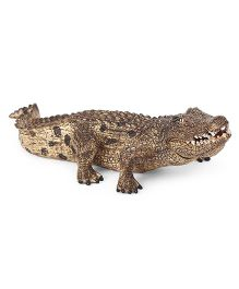 Schleich Crocodile Toy Figure Brown - Length 19 cm