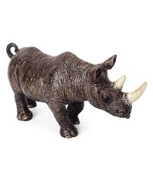 Schleich Rhinoceros Toy Figure Brown - Length 13.5 cm