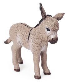 Schleich Donkey Foal Toy Figure Light Brown - Length 6 cm