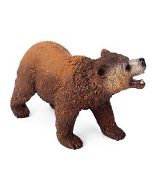 Schleich Grizzly Bear Toy Figure Brown - Length 10 cm