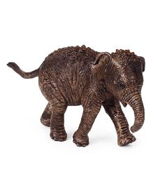 Schleich Asian Elephant Calf Toy Figure Brown - Length 6 cm