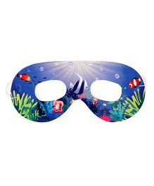 Karmallys Eye Masks Fish Print Pack Of 10 - Blue