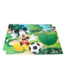 Disney Mickey Mouse Birthday Poster Pack Of 2 - Multi Color