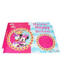 Disney Minnie Mouse Club House Birthday Poster Pack Of 2 - Pink Blue