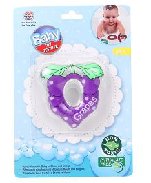 Ratnas Grapes Shape Water Filled Teether - Purple